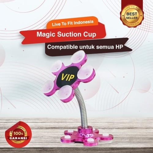 Foto Produk Magic Suction Cup Smartphone Holder HP di Mobil Penyangga HP Fleksibel dari Live to Fit Indonesia