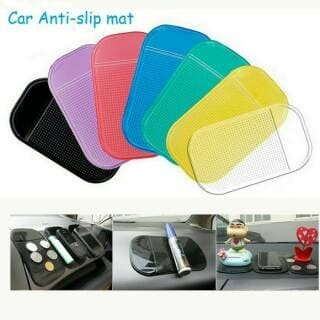 Foto Produk SILICONE Car Anti Slip Mat Super Sticky Pad Phone HP dashboard Mobil - HITAM dari Jakarta cosmetik  Murah