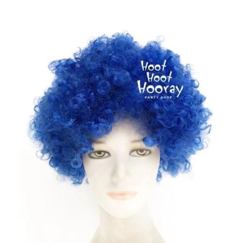 Foto Produk Wig Biru / Wig Kribo Biru / Wig Badut / Wig Cosplay / Rambut Palsu dari Hoot Hoot Hooray