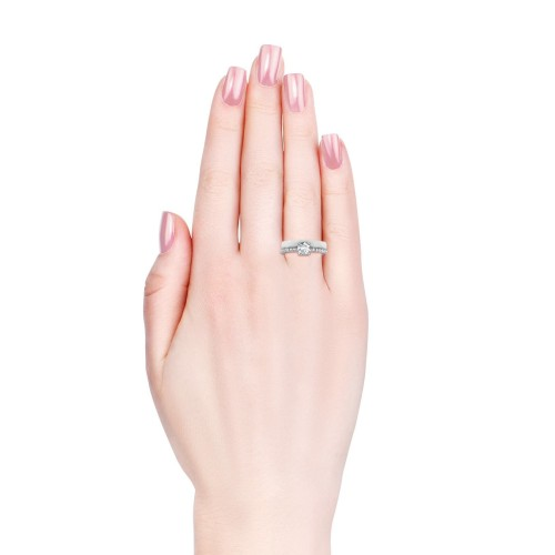 Foto Produk Enchanted Ceramic Ring - Cincin Crystal Swarovski by Her Jewellery - White, 7 dari Her Jewellery