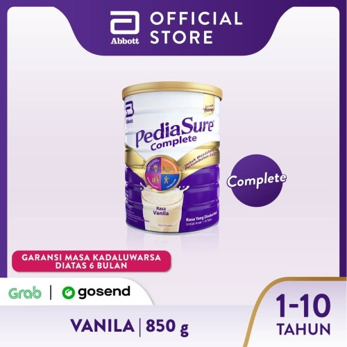 Foto Produk Pediasure Complete Vanila 850 g (1-10 tahun) Susu Pertumbuhan Anak dari Abbott Official Store