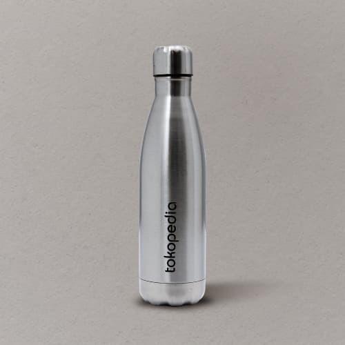 Foto Produk Tumbler Bowling Eksklusif Tokopedia - Silver dari Tokopedia Merchandise