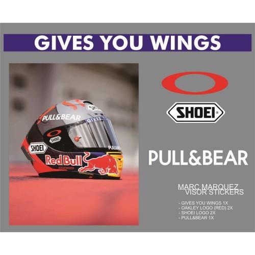 Foto Produk Sticker/Stiker Visor Helm - 93 Marc Marquez dari Fuel