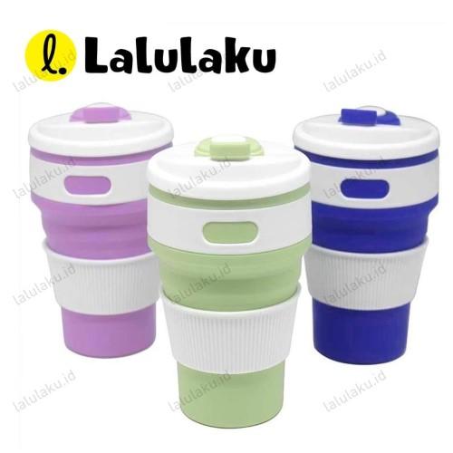 Foto Produk Gelas Lipat Silikon / Travel / Portable / Collapsible Cup - Merah Muda dari Lalulaku