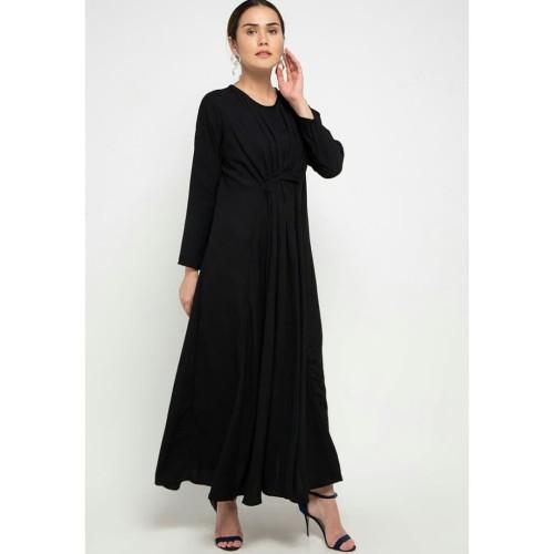 Foto Produk Dress Muslim Wanita Covering Story Indira Dress - B Black dari Covering Story