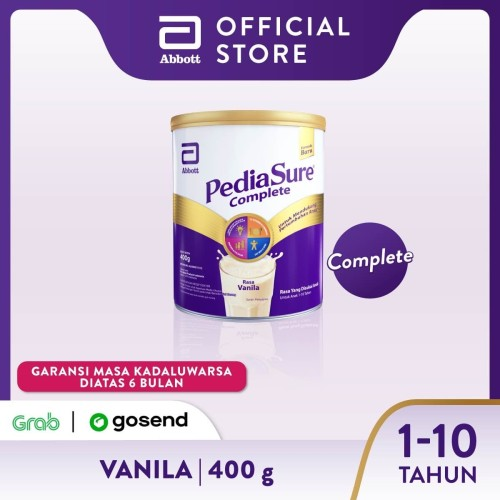 Foto Produk Pediasure Complete Vanila 400 g (1-10 tahun) Susu Pertumbuhan Anak dari Abbott Official Store