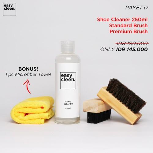 Foto Produk Shoe Cleaner 250ml + Premium Brush & Standard Brush | Pembersih Sepatu dari Easy Cleen Official