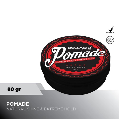 Foto Produk Bellagio Homme Natural Shine & Extreme Hold Pomade dari Priskila Official Store