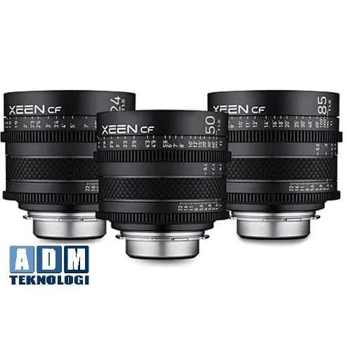 Foto Produk Rokinon Xeen CF paket 3 lensa 24 50 85 dari ADM tekno