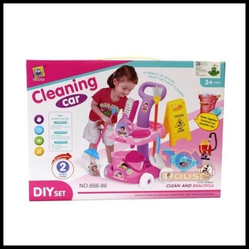 Foto Produk Cleaning Car Trolley No. 666-86 - Mainan Alat Kebersihan Ember dari toy house