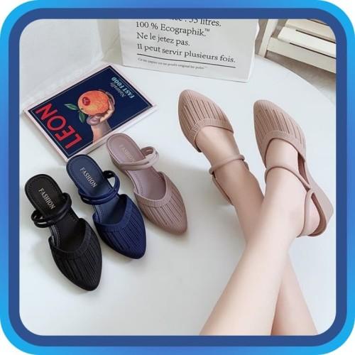 Foto Produk Raja - Sandal Flat Shoes Wanita / Bahan Jelly Sol Karet / Sandal Murah - 37, Ungu dari Raja_pedia
