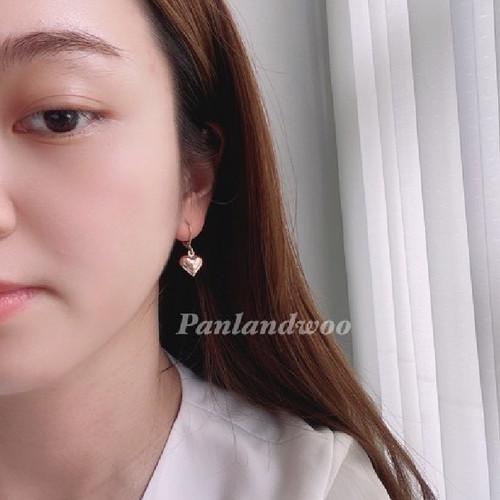 Foto Produk Anting Tusuk Panlandwoo Fashion Korea Aksesoris Wanita - Golden Heart dari Panlandwoo