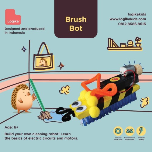 Foto Produk Mainan Edukasi Anak - Brushbot dari LogikaKids