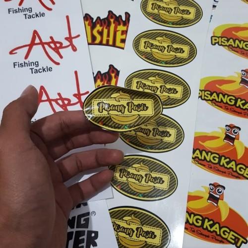 Foto Produk Stiker Kemasan Cetak Stiker BAHAN VINYL MERK RITRAMA A3+ CUT Custom dari Azalea Q store