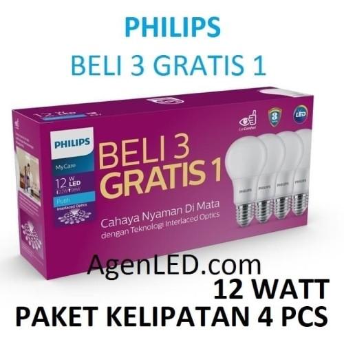 Foto Produk PHILIPS Lampu LED 12W Bohlam 12 w watt PUTIH Bulb 12watt philip MyCare dari AgenLED