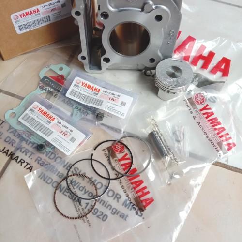 Foto Produk Blok Seher komplit isi piston kit mio j/soul gt/xride/fino fi 54p ori dari Nafis motor separts
