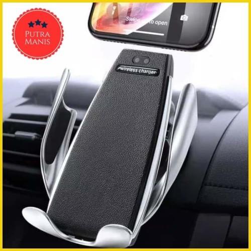 Foto Produk Wireless Car Charger Air Vent Smart Sensor chager Holder Mobil wireles dari PUTRA MANIS