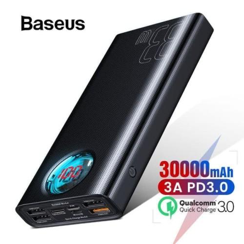Foto Produk BASEUS AMBLIGHT FAST CHARGING POWER BANK 30000MAH 33W PD3.0 QC3.0 dari toko distributor hoki