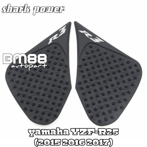 Foto Produk Tank Side Pad Yamaha YZF R25 - Rubber Karet Tankpad R3 SHARK POWER dari BarokahMotor88