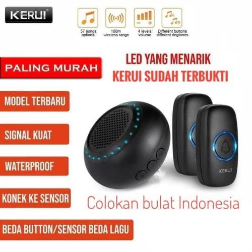 Foto Produk KERUI M523 Bel Pintu Rumah Wireless Multi Tone Memory 2 Transmitter - Hitam dari Asyam Weiseman