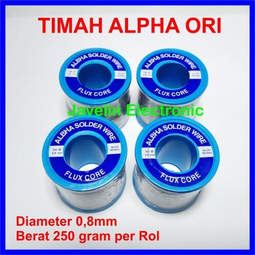 Foto Produk Timah Alpha / Alfa 0.8mm 0,8mm Flux Core Solder Wire 250g dari Javelin Electronic