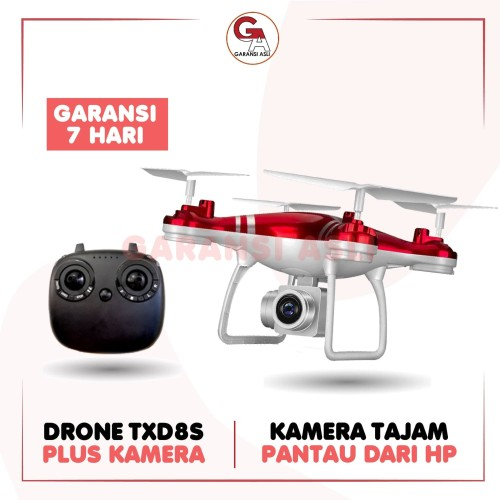 Foto Produk TXD 8S DRONE CAMERA DRONE QUADCOPTER DRONE CAMERA ORIGINAL IMPORT MURA - Merah, 1 SET BAWAAN dari garansi_asli