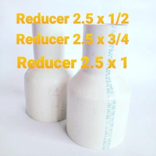 """Foto Produk reducer 2 1/2"""" x 1/2"""" reducer 2.5 x 0.5 dari ABAH MULTI TEKHNIK"""