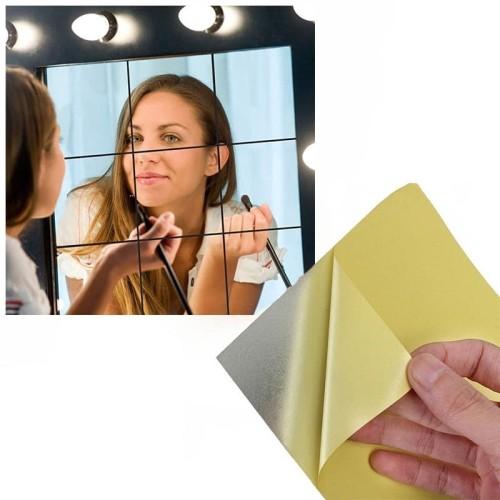 Foto Produk Stiker Dinding Kaca Cermin Mirror Wall Sticker Dinding Wallpaper 9pcs dari lbagstore