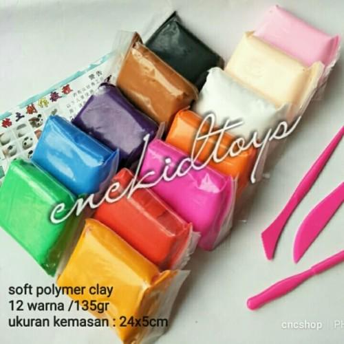 Foto Produk Mainan Clay Polymer/Slime Soft Plastisin Set 12warna+tools dari C 'n C Shop