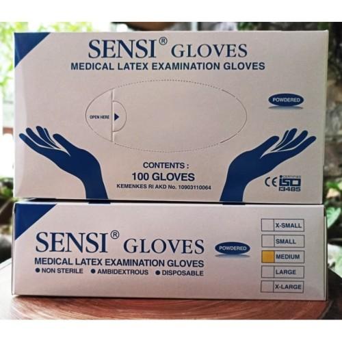 Foto Produk Sarung Tangan Sensi Examination Gloves/ Latex / Karet Size M - L dari bee_strong