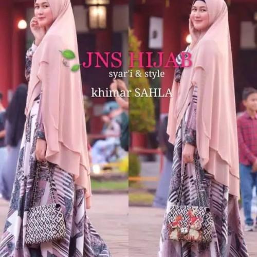 Foto Produk KHIMAR PREMIUM - Jilbab Syari Ceruti Babydoll Import SAHLA ORI JNS dari DIGDAYA Grosir Hijab