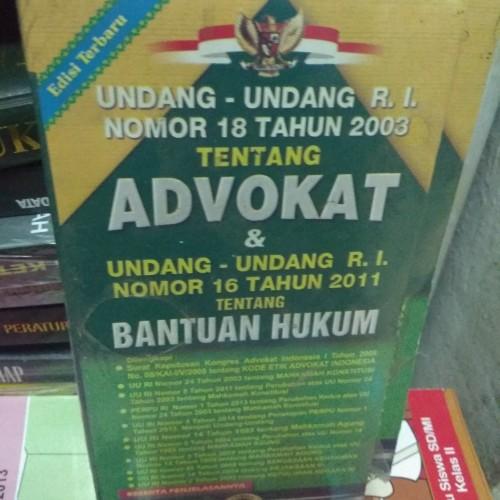 Foto Produk Undang Undang No 18 Tahun 2003 Tentang ADVOKAT dan Bantuan Hukum dari Toko Joyuan