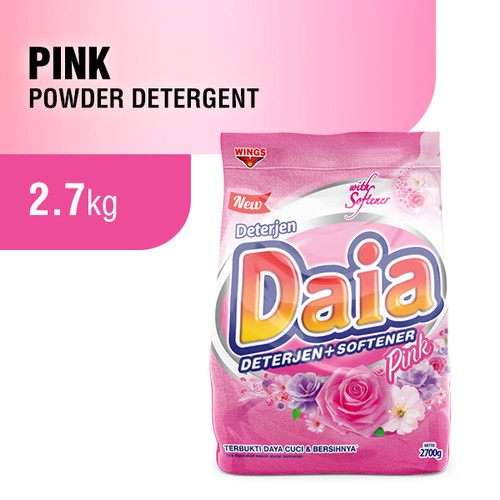 Foto Produk Daia Deterjen Bubuk 2.7 kg - Pink dari Wings Official Store