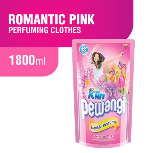 Foto Produk Soklin Pewangi Pakaian Double Perfume 1800 ml - Romantic Pink dari Wings Official Store