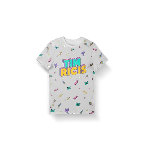 Foto Produk TIM RICIS - Tshirt Exclusive Merchandise Free Notebook Limited Edition - Putih FullPrint, M dari GMI Records