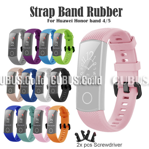Foto Produk Strap Band Rubber For Huawei Honor band 4/5 - Pink dari Cubus_Co_ID