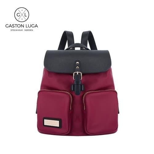 Foto Produk Gaston Luga Tas Punggung | Backpack Parlan Burgundy Black dari Gaston Luga