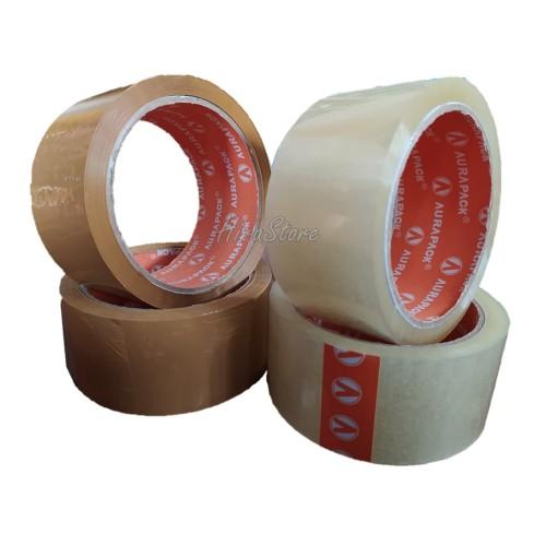 Foto Produk Lakban Bening/Coklat merek Handeru Selotip Coklat 45 mm x 60 yard - Bening dari Adreena Syahira Shop