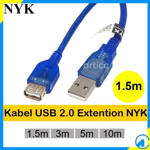 Foto Produk Kabel Extention USB2.0 1.5m Transparan dari Artica Computer