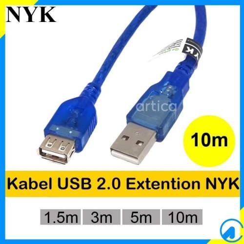 Foto Produk Kabel Extention USB2.0 10m Transparan dari Artica Computer