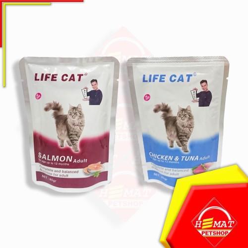Foto Produk Makanan Kucing Adult Life Cat Sachet 85 Gram / Wet Food 85 Gram - Salmon dari Petshop Hemat Pet Shop