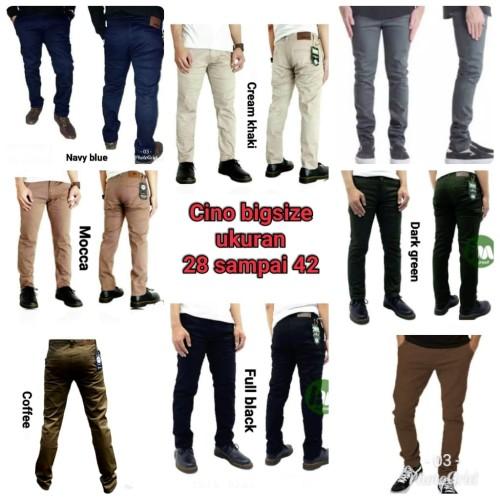 Foto Produk celana chino / big size original / size 36- 42 / slim fit / melar - Abu-abu Muda, 40 dari kystore_12Bdg