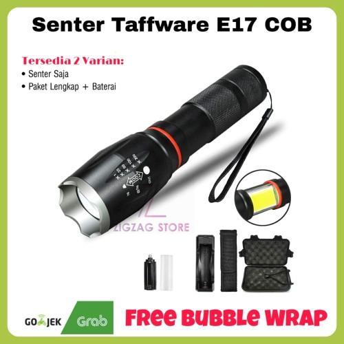 Foto Produk Paket Senter Taffware E17 COB XML T6 8000 Lumens Waterproof - No Box E17 COB dari ZigZag-Store