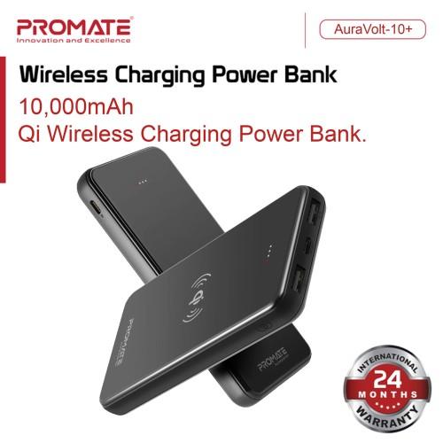 Foto Produk Promate Power Bank Wireless 10000 mAh - AuraVolt-10 Powerbank 10000mAh - Putih dari Promate Indonesia