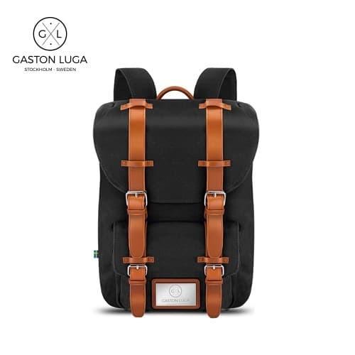 Foto Produk Gaston Luga Tas Punggung   Backpack Classic Black Brown dari Gaston Luga