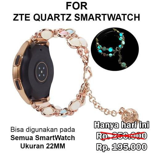 Foto Produk Agate Strap Band ZTE Quartz 22mm Smart Watch Smartwatch tali jam - Rosegold dari Casing Import