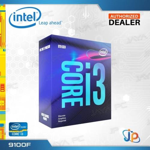 Foto Produk Processor Intel Core I3 9100F Box Coffee Lake Socket LGA 1151 dari Jaya PC