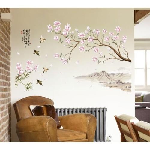 Foto Produk Peach Blossom SK9286 - Stiker Dinding / Wall Sticker dari farisha shop