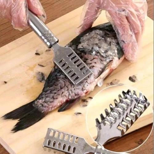 Foto Produk Alat pembersih pengupas sisik ikan stainless - Peeler Sisik Ikan dari K'S