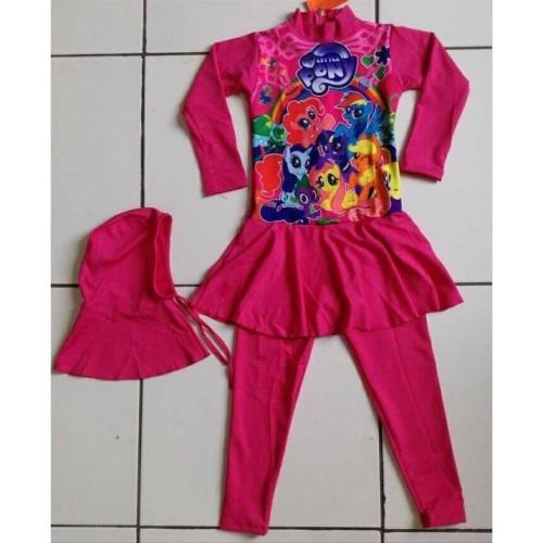 Foto Produk Baju Renang Anak Perempuan -Feb Baju renang anak muslim little pony dari NAYLIL STORE99